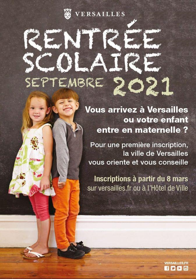 Inscription dans les écoles de Versailles pour 2021